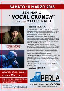 Seminario VOCAL CRUNCH con MATTEO RATTI